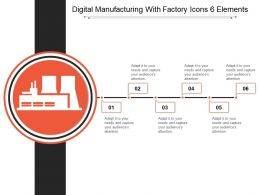 Digital Manufacturing With Factory Icons 6 Elements