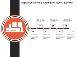 Digital Manufacturing With Factory Icons 7 Elements