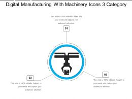 Digital Manufacturing With Machinery Icons 3 Category