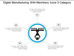 Digital Manufacturing With Machinery Icons 5 Category