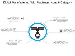 Digital Manufacturing With Machinery Icons 6 Category