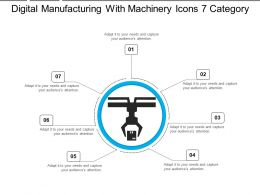 Digital Manufacturing With Machinery Icons 7 Category