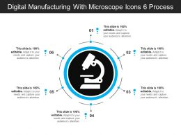 Digital Manufacturing With Microscope Icons 6 Process