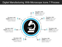 Digital Manufacturing With Microscope Icons 7 Process