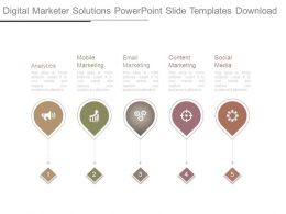 Digital Marketer Solutions Powerpoint Slide Templates Download