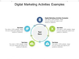 Digital Marketing Activities Examples Ppt Powerpoint Presentation Outline Slides Cpb
