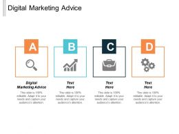 Digital Marketing Advice Ppt Powerpoint Presentation Infographics Ideas Cpb