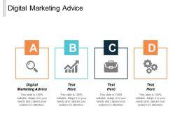 Digital Marketing Advice Ppt Powerpoint Presentation Infographics Ideas Cpb