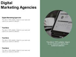 Digital Marketing Agencies Ppt Powerpoint Presentation Gallery Deck Cpb