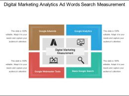 Digital Marketing Analytics Ad Words Search Measurement