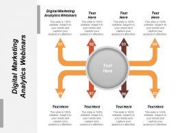 Digital Marketing Analytics Webinars Ppt Powerpoint Presentation File Brochure Cpb