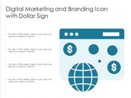 Digital Marketing And Branding Icon With Dollar Sign
