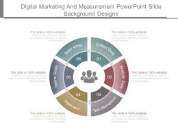 Digital Marketing And Measurement Powerpoint Slide Background Designs