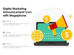 Digital Marketing Announcement Icon With Megaphone