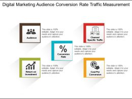 Digital Marketing Audience Conversion Rate Traffic Measurement