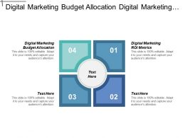 Digital Marketing Budget Allocation Digital Marketing Roi Metrics Cpb