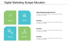 Digital Marketing Budget Allocation Ppt Powerpoint Presentation Slides Infographic Template Cpb