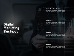 Digital Marketing Business Ppt Powerpoint Presentation Styles Show Cpb