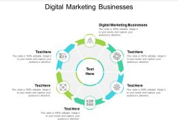 Digital Marketing Businesses Ppt Powerpoint Presentation Deck Cpb