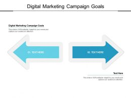 Digital Marketing Campaign Goals Ppt Powerpoint Presentation Layouts Styles Cpb