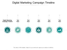 Digital Marketing Campaign Timeline Ppt Powerpoint Presentation Outline Guidelines Cpb