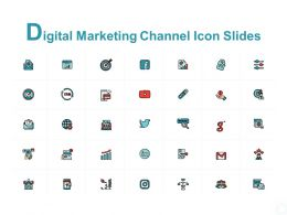 Digital Marketing Channel Icon Slides Arrow Ppt Powerpoint Presentation Portfolio