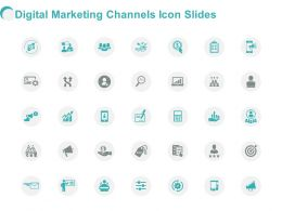 Digital Marketing Channels Icon Slides Growth L395 Powerpoint Presentation