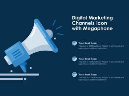 Digital Marketing Channels Icon With Megaphone