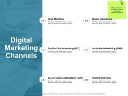 Digital Marketing Channels Optimization Ppt Powerpoint Presentation Professional Topics