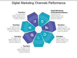 Digital Marketing Channels Performance Ppt Powerpoint Presentation Model Cpb