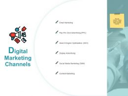 Digital Marketing Channels Slide Advertising Ppt Powerpoint Presentation Visuals