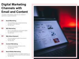 Digital Marketing Channels With Email And Content