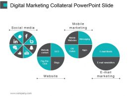 Digital Marketing Collateral Powerpoint Slide