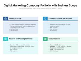 Digital Marketing Company Portfolio With Business Scope