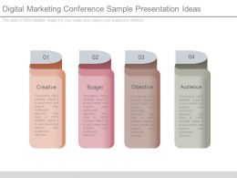 Digital Marketing Conference Sample Presentation Ideas