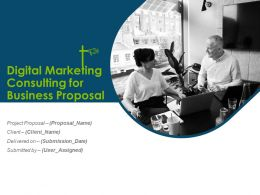 Digital Marketing Consulting For Business Proposal Powerpoint Presentation Slides