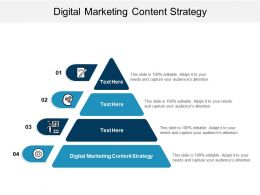 Digital Marketing Content Strategy Ppt Powerpoint Presentation File Information Cpb