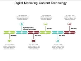 Digital Marketing Content Technology Ppt Powerpoint Presentation Slides Graphics Example Cpb