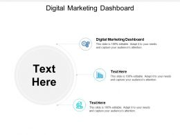 Digital Marketing Dashboard Ppt Powerpoint Presentation Portfolio Layout Cpb