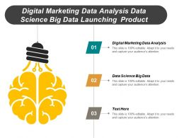 Digital Marketing Data Analysis Data Science Big Data Launching Product Cpb