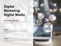 Digital Marketing Digital Media Ppt Powerpoint Presentation File Structure Cpb