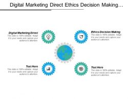 Digital Marketing Direct Ethics Decision Making Social Investment Organization Cpb