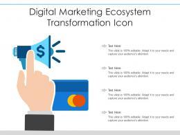 Digital Marketing Ecosystem Transformation Icon