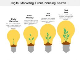 Digital Marketing Event Planning Kaizen Methodology Market Segmentation Cpb