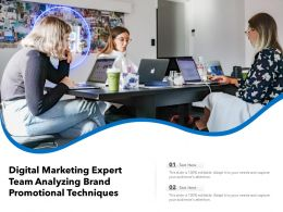 Digital Marketing Expert Team Analyzing Brand Promotional Techniques