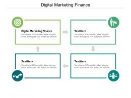 Digital Marketing Finance Ppt Powerpoint Presentation Professional Cpb