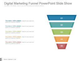 Digital Marketing Funnel Powerpoint Slide Show