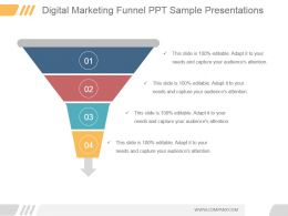 Digital Marketing Funnel Ppt Sample Presentations