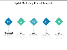Digital Marketing Funnel Template Ppt Powerpoint Presentation Icon Display Cpb