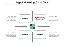 Digital Marketing Gantt Chart Ppt Powerpoint Presentation Slides Example Introduction Cpb